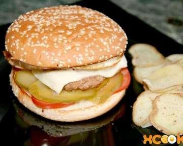 Настоящий бургер – пошаговый рецепт с фото, блюда американской кухни с фаршем