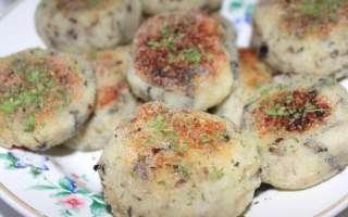 Постные картофельные котлеты с грибами – пошаговый рецепт с фото, как приготовить