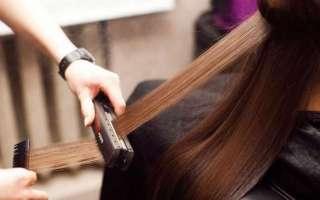 Профессиональное выпрямление волос — польза, вред и уход