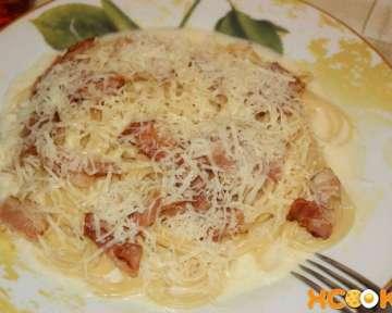 Паста карбонара с беконом и сливками – пошаговый рецепт с фото, как ее приготовить дома