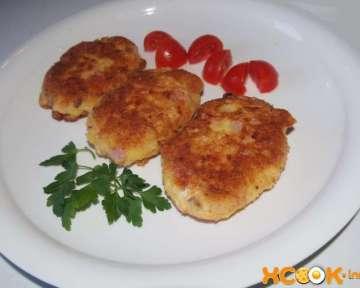 Как приготовить картофельные биточки с ветчиной и сыром — пошаговый рецепт с фото