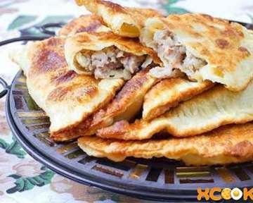 Татарские сочные чебуреки с мясом — рецепт приготовления