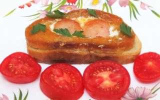 Яичница в белом хлебе с колбасой и сыром – простой рецепт с пошаговыми фото, как приготовить на сковороде