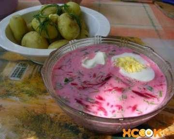 Холодный литовский борщ — рецепт приготовления на кефире
