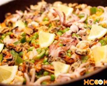 Испанское блюдо «Паэлья с морепродуктами» — рецепт с фото приготовления пошагово