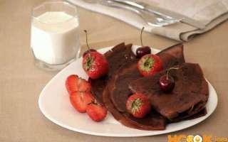 Шоколадные блины — на молоке: рецепт с фото, как их приготовить в домашних условиях