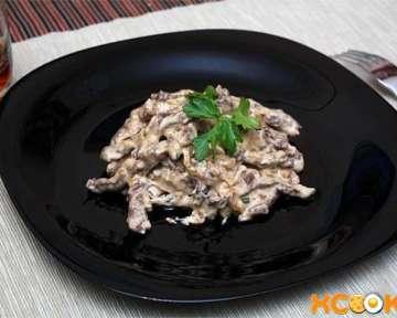 Бефстроганов из говядины со сметаной – пошаговый рецепт с фото, как приготовить в домашних условиях