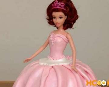 Торт Кукла Барби с мастикой — пошаговый мастер класс рецепта с фото