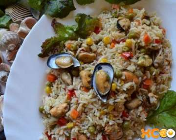 Паэлья с мидиями — пошаговый рецепт приготовления с фото
