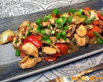 Вкусная курица с овощами в кисло-сладком соусе – пошаговый фото рецепт приготовления по-китайски в домашних условиях