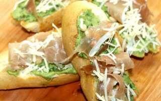 Итальянская брускетта с авокадо и хамоном – рецепт с пошаговыми фото, как приготовить вкусно в домашних условиях