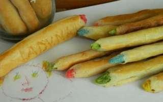 Пошаговый рецепт с фото приготовления печенья Цветные карандаши в домашних условиях