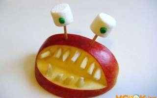 Пошаговый рецепт создания фигурок из яблок на праздник с фото