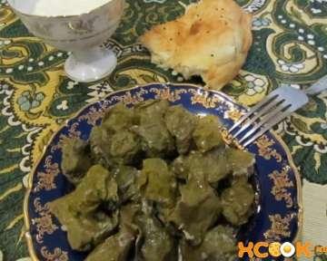 Пошаговый фото рецепт приготовления настоящей долмы по-азербайджански с виноградными листьями в домашних условиях