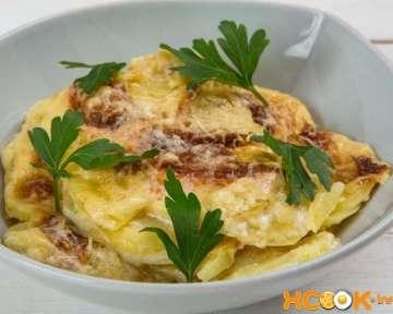 Картофельный гратен с сыром и сливками — рецепт с фото, как пошагово приготовить в духовке