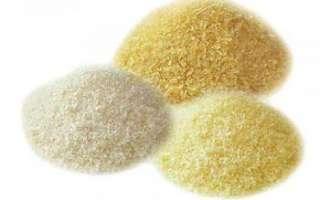 В чем заключается польза желатина и его вред, фото продукта; применение в косметологии и его приготовление в домашних условиях, а также рецепты блюд