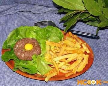 Французский тартар (татарский бифштекс) из конины – фото рецепт блюда французской кухни