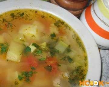 Овощной суп с кабачками и картошкой – рецепт с пошаговыми фото, как приготовить на курином бульоне