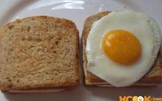 Французские сэндвичи крок-мадам и крок-месье с ветчиной и сыром – рецепт пошагового приготовления с фото
