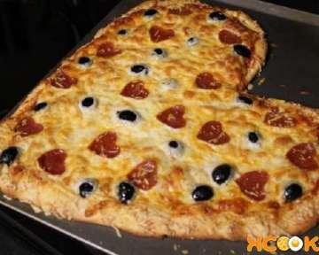 Пицца в форме сердца – рецепт с пошаговыми фото, как сделать в домашних условиях