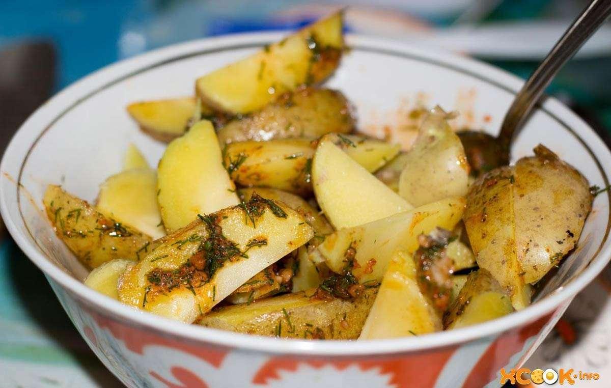 картошка в соусе