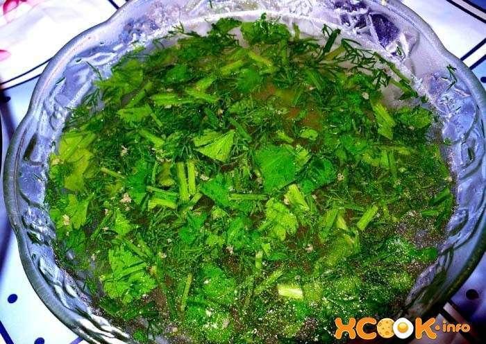 бульон с зеленью