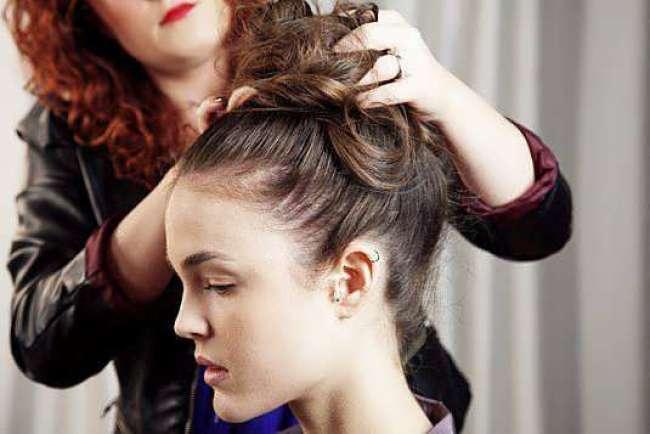 фиксируем волосы