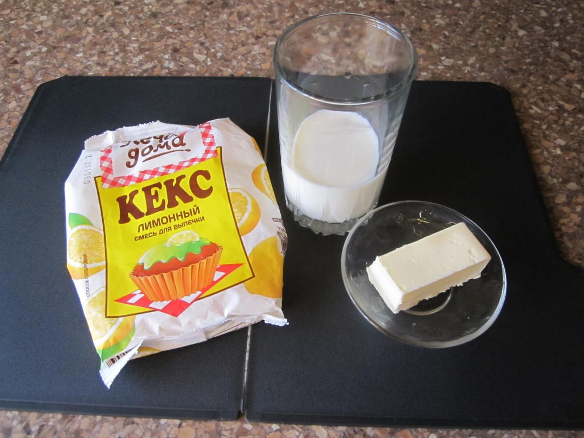 ингредиенты для сухой смеси для кекса