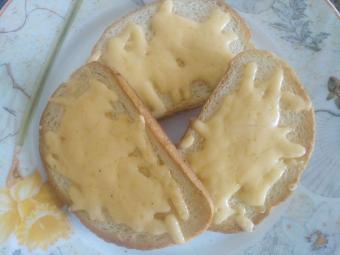 тосты с сыром на сковороде