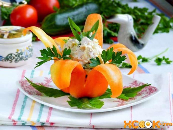 салат Нежность - рецепт с фото